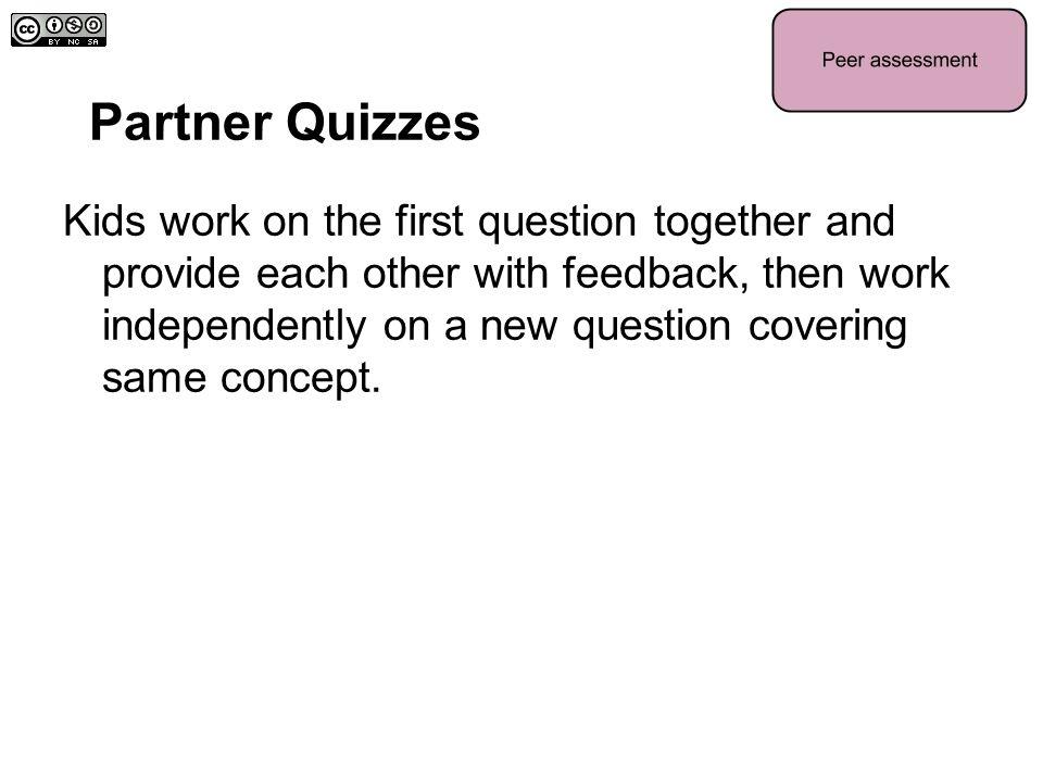 Partner Quizzes