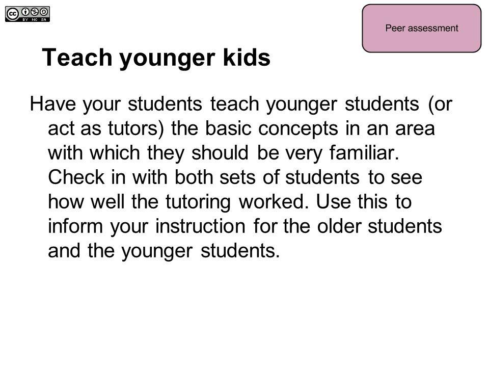 Teach younger kids