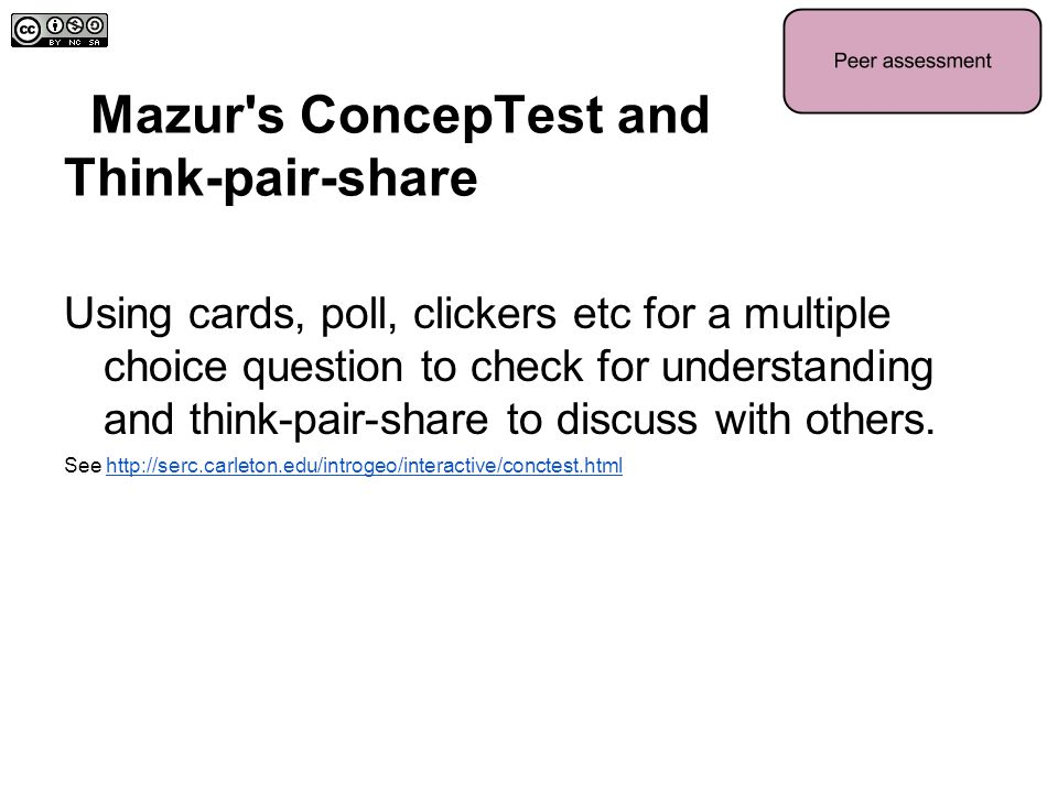 Mazur s ConcepTest and Think-pair-share