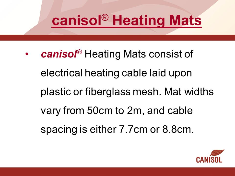 canisol® Heating Mats