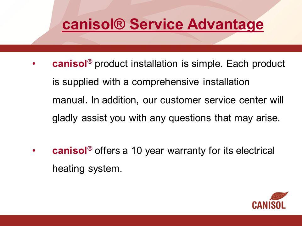 canisol® Service Advantage