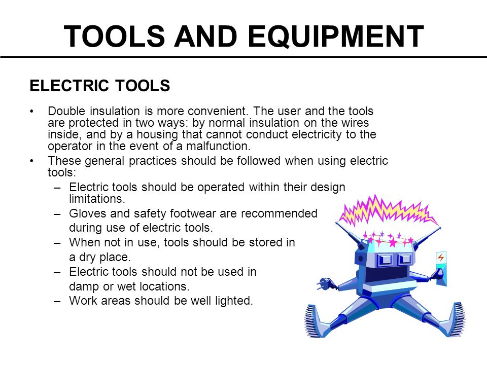 TOOLS AND EQUIPMENT ELECTRIC TOOLS