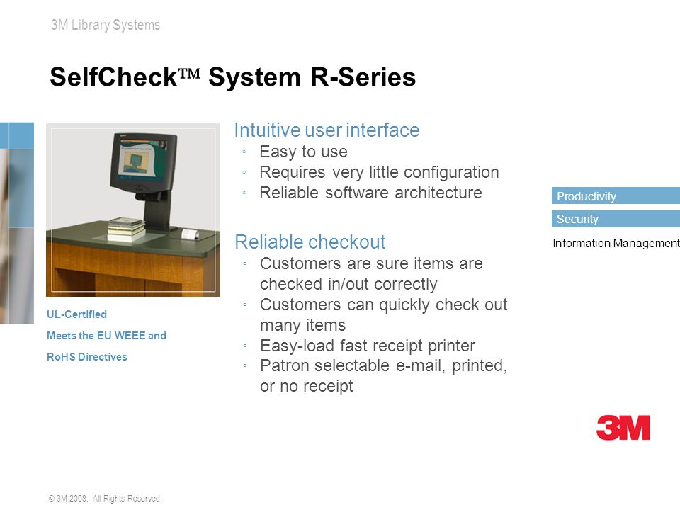 SelfCheck System R-Series