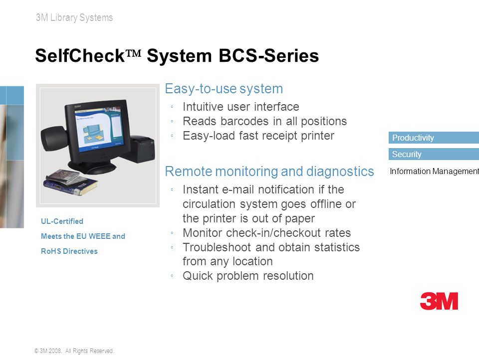 SelfCheck System BCS-Series