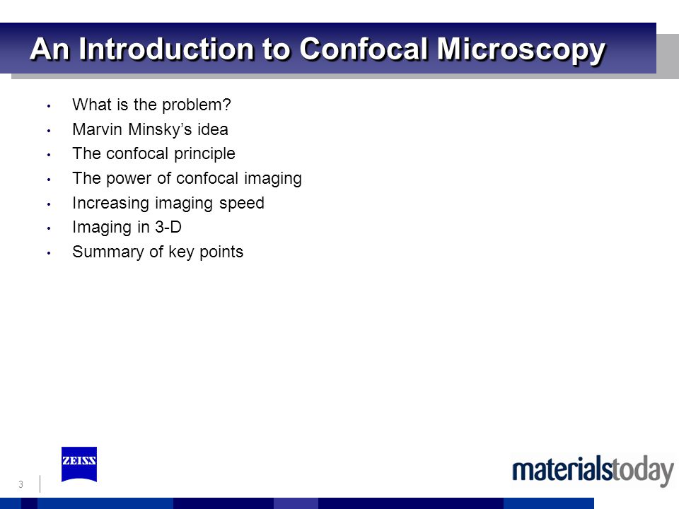 An Introduction to Confocal Microscopy
