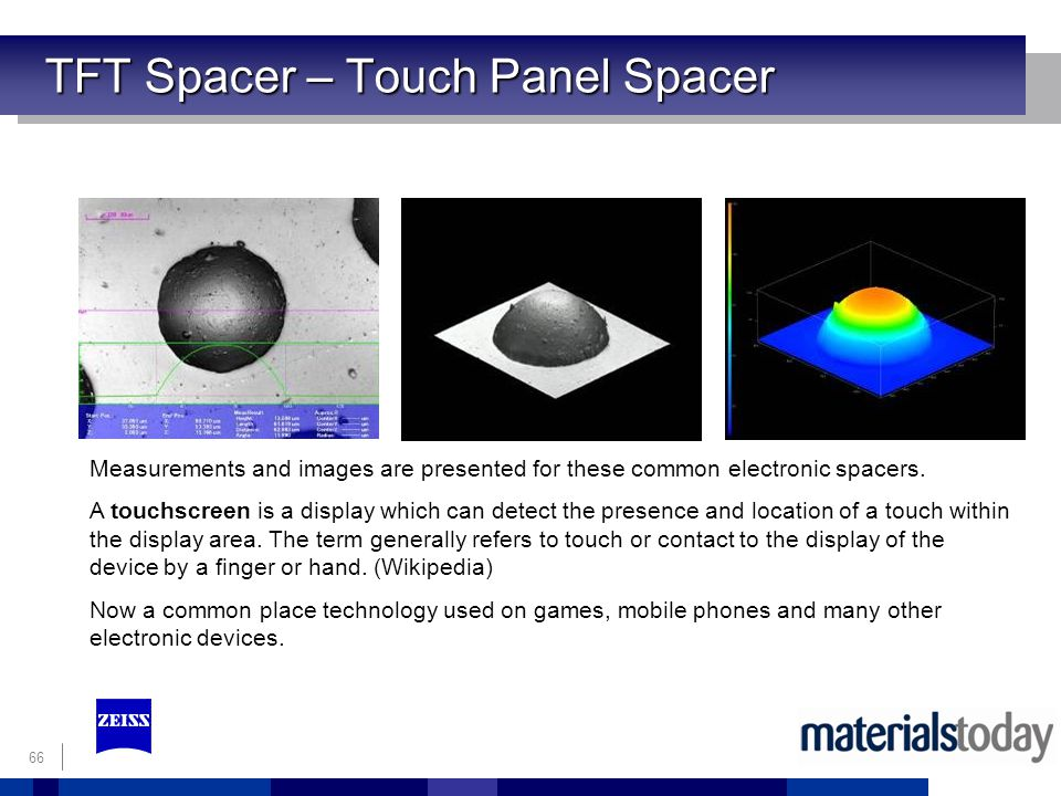 TFT Spacer – Touch Panel Spacer