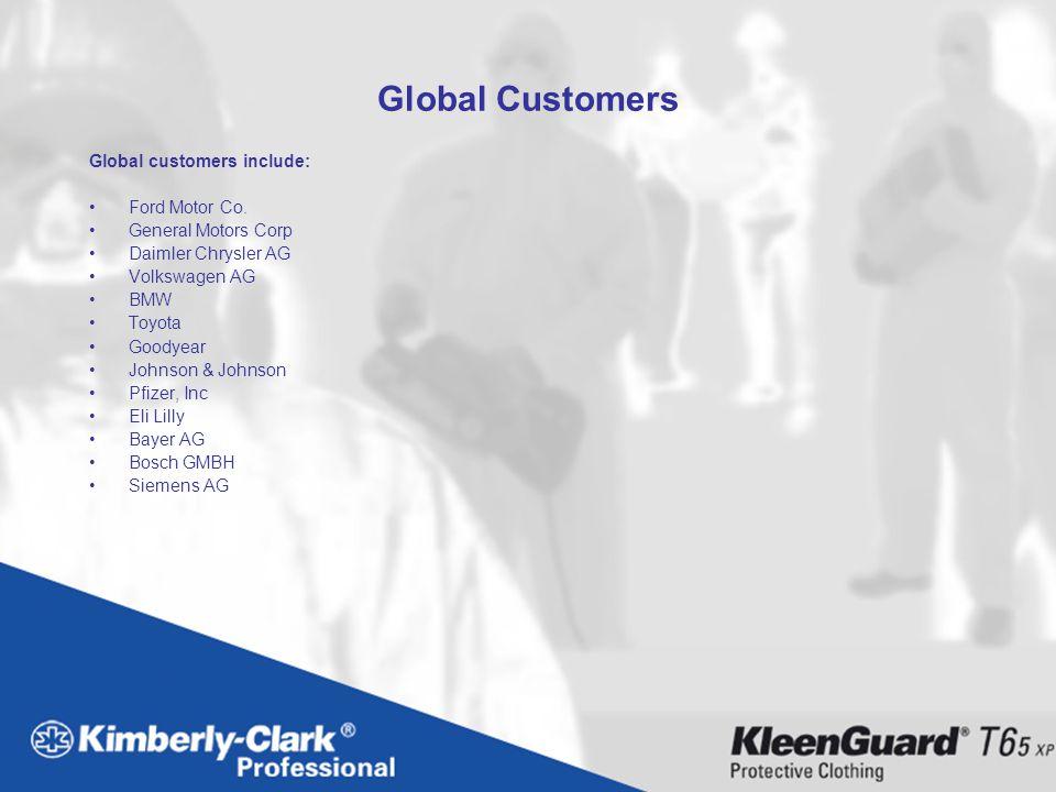 Global Customers Global customers include: Ford Motor Co.