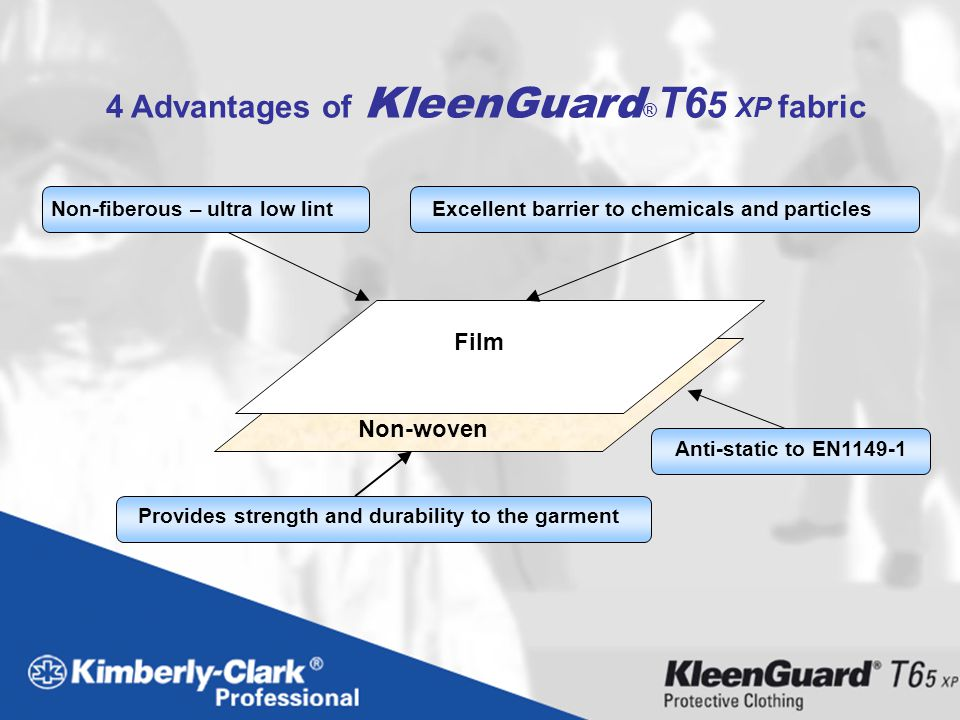 4 Advantages of KleenGuard®T65 XP fabric