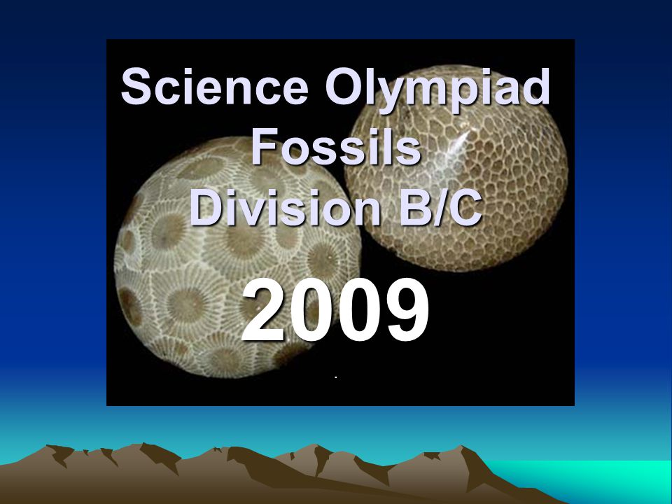 Science Olympiad Fossils Division B/C