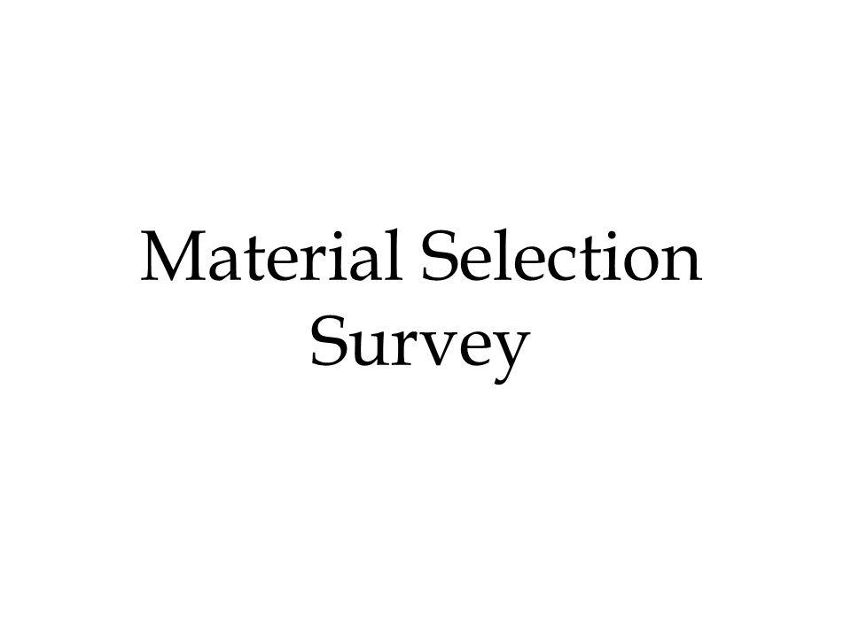 Material Selection Survey