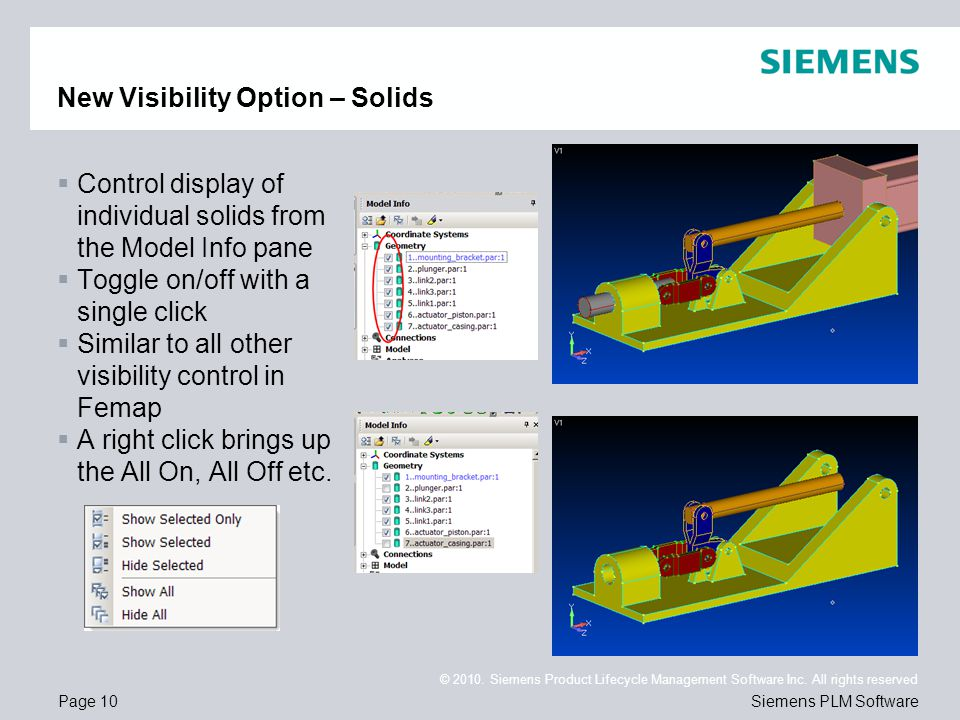 New Visibility Option – Solids