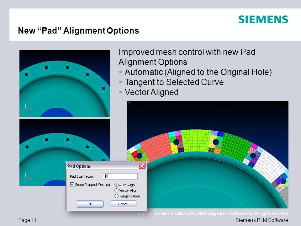 New Pad Alignment Options