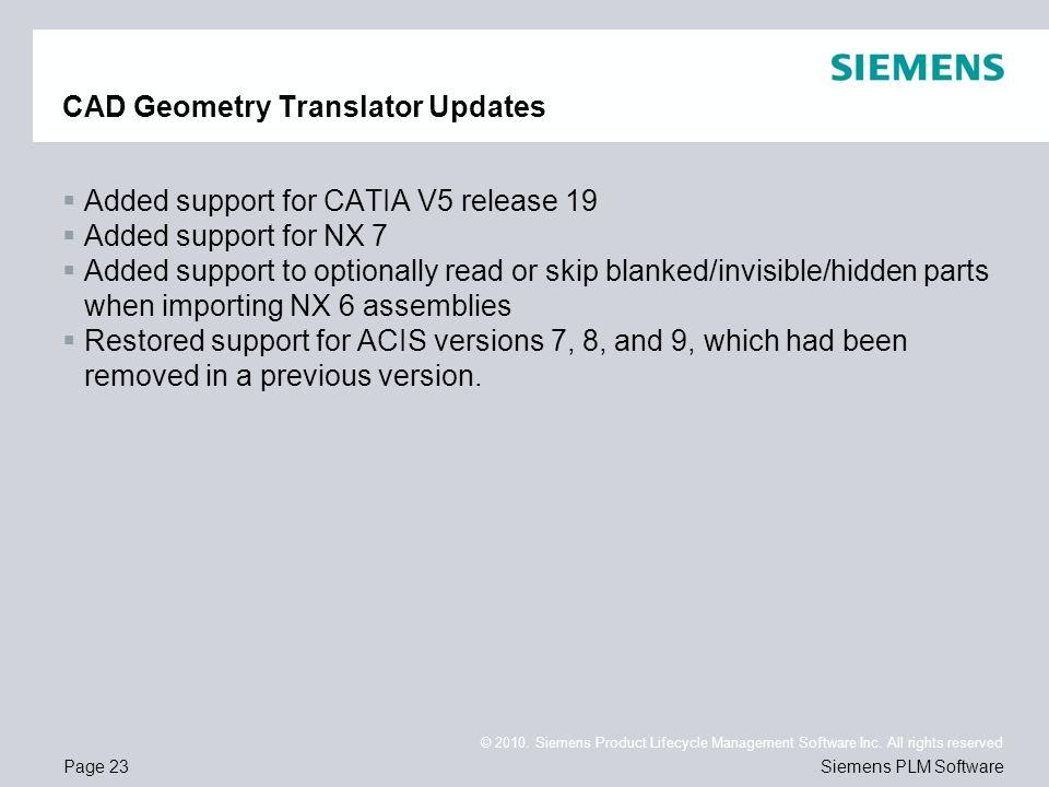 CAD Geometry Translator Updates