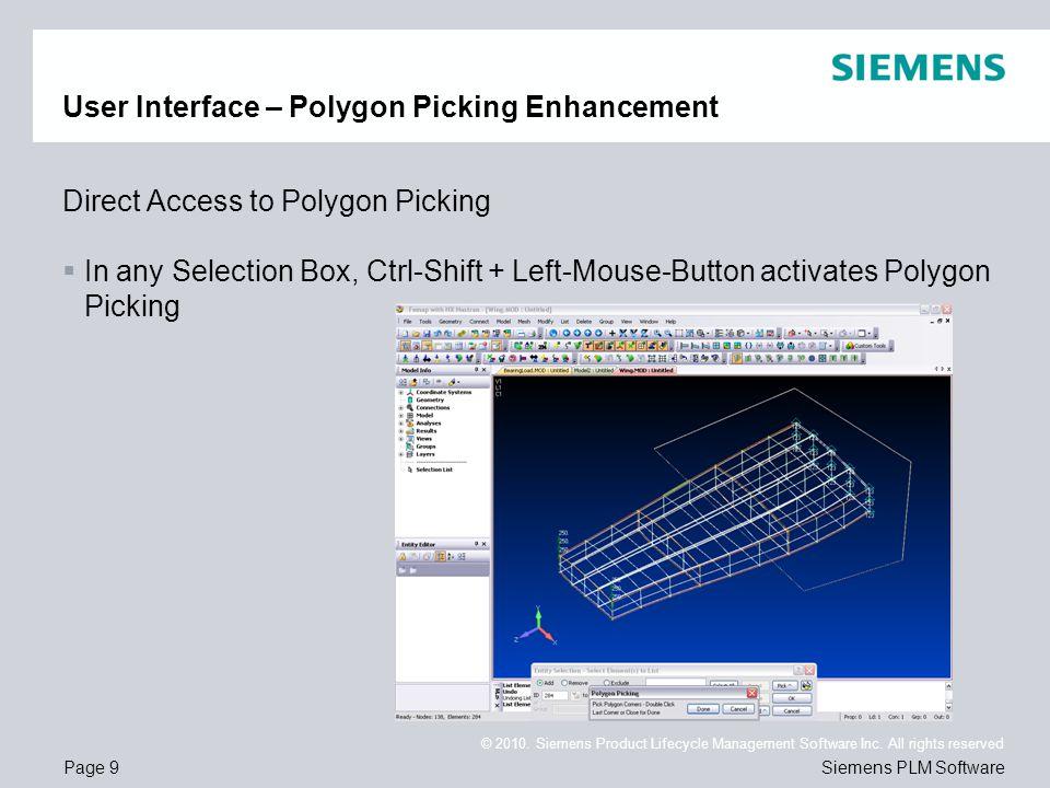 User Interface – Polygon Picking Enhancement