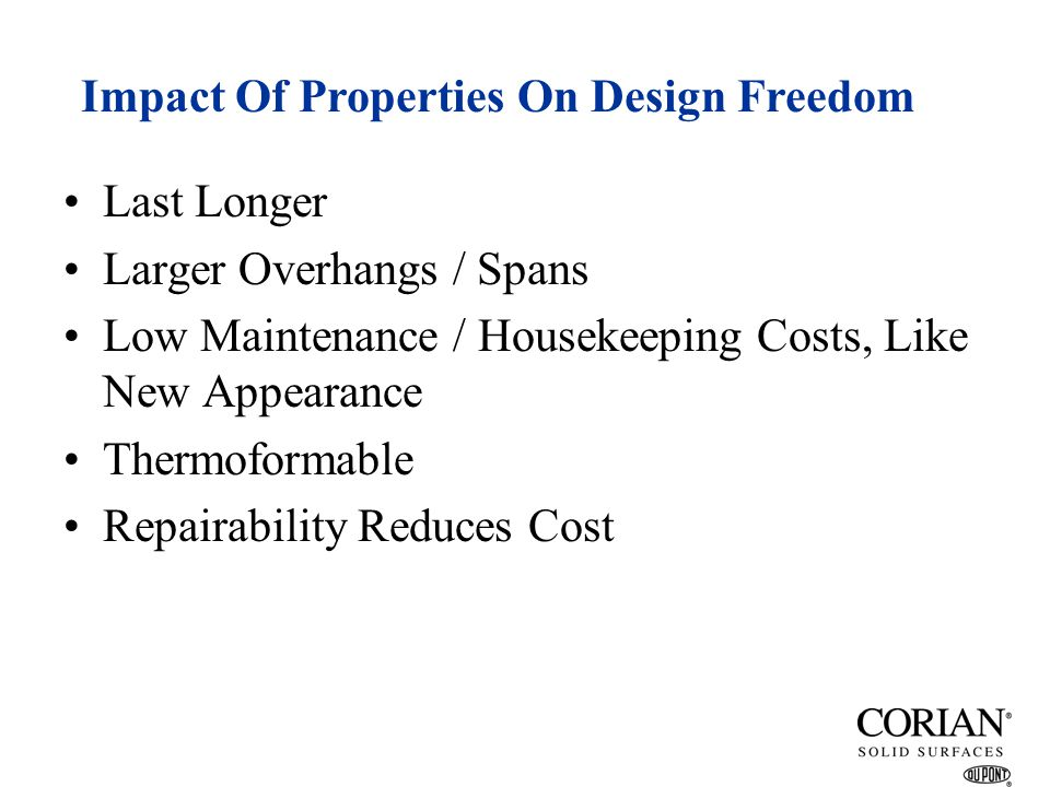 Impact Of Properties On Design Freedom