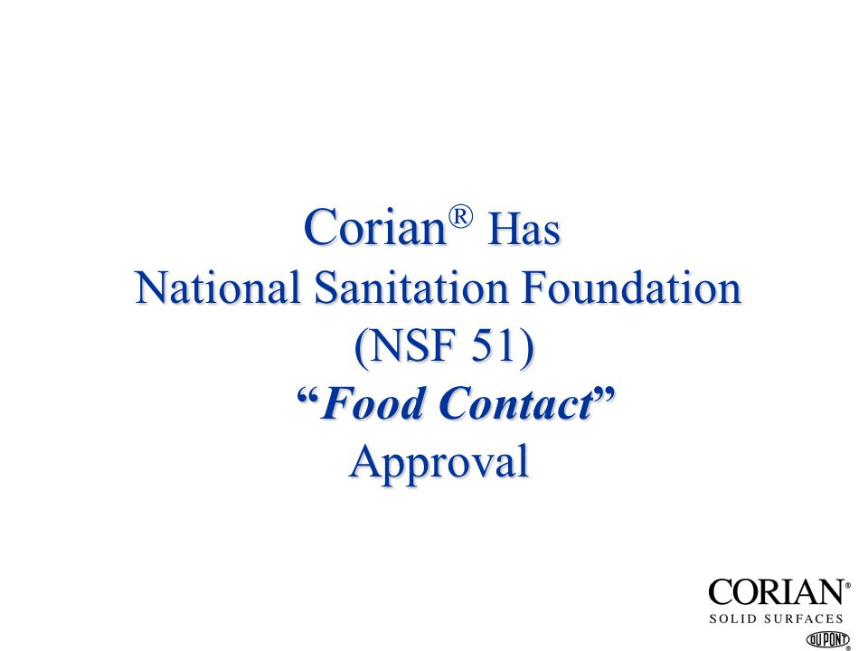 National Sanitation Foundation