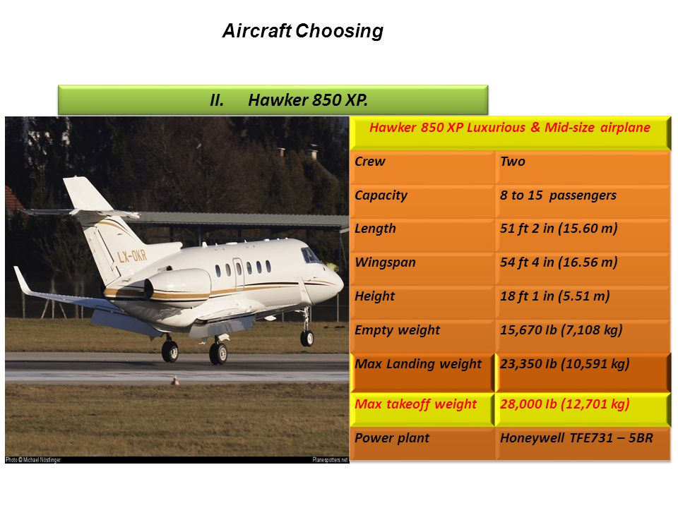 Hawker 850 XP Luxurious & Mid-size airplane