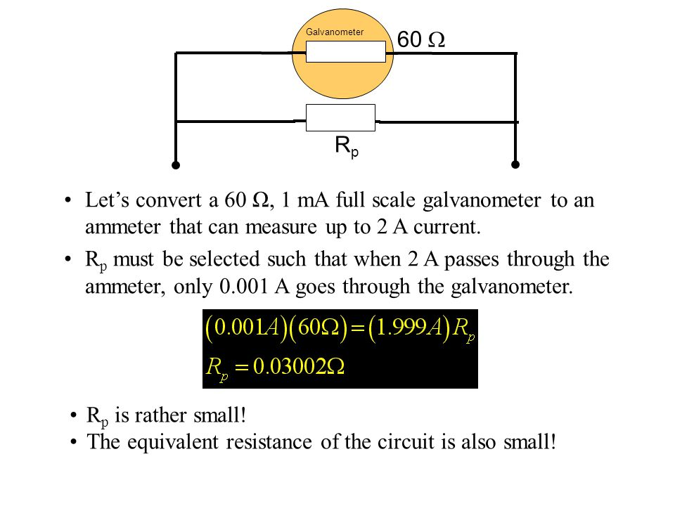 The equivalent resistance of the circuit is also small!