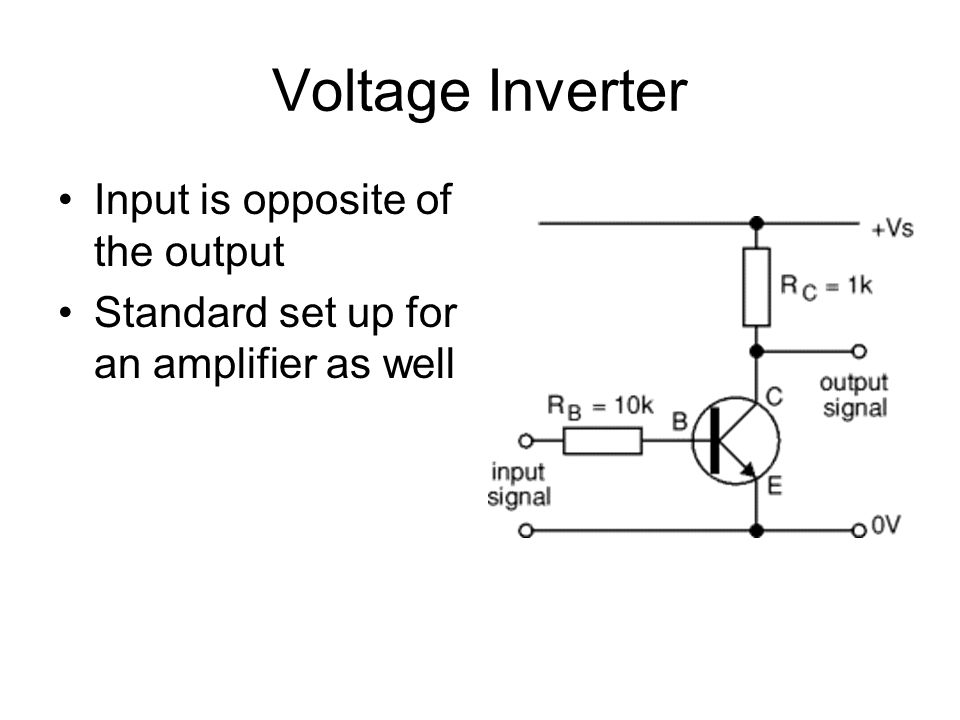 Voltage Inverter Input is opposite of the output