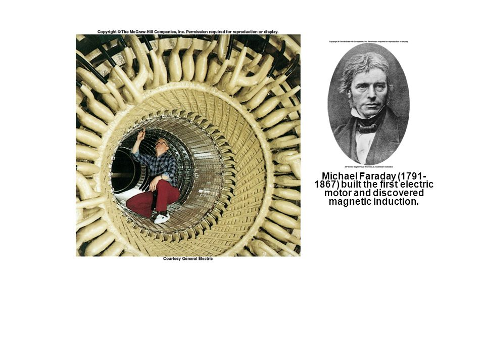 Michael Faraday (1791-1867) built the first electric motor and discovered magnetic induction.