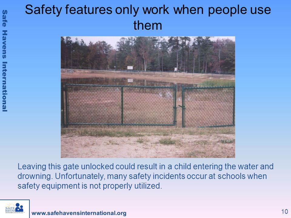 Safety features only work when people use them