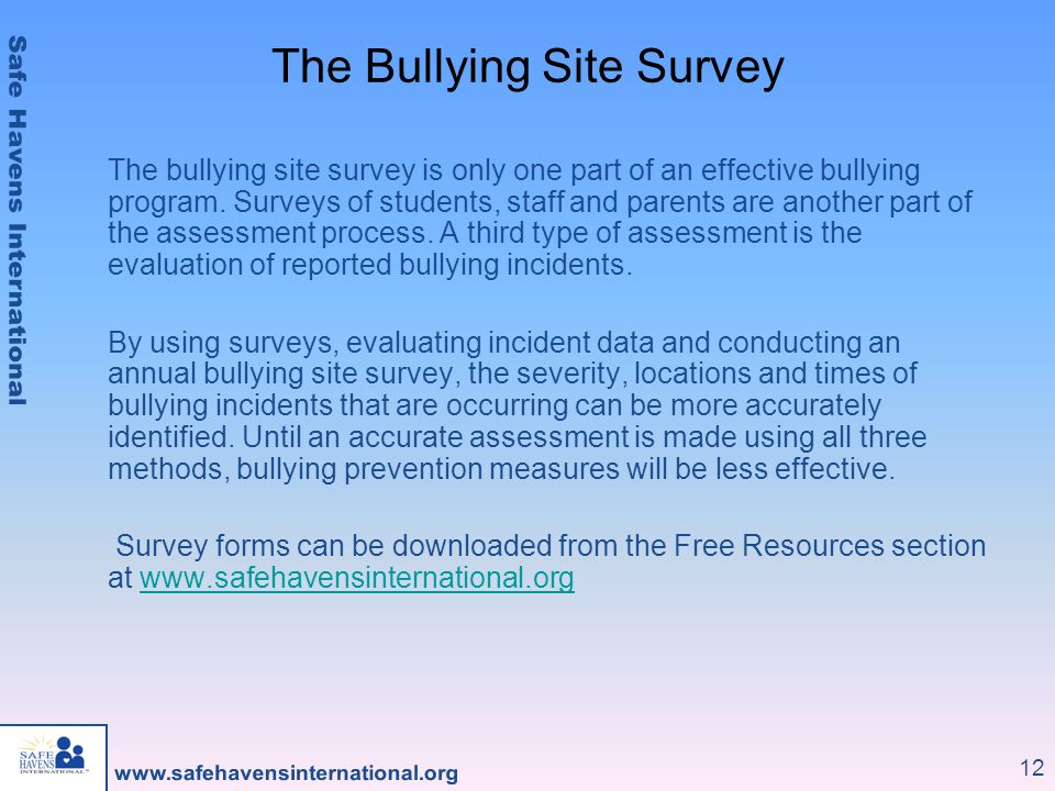 The Bullying Site Survey