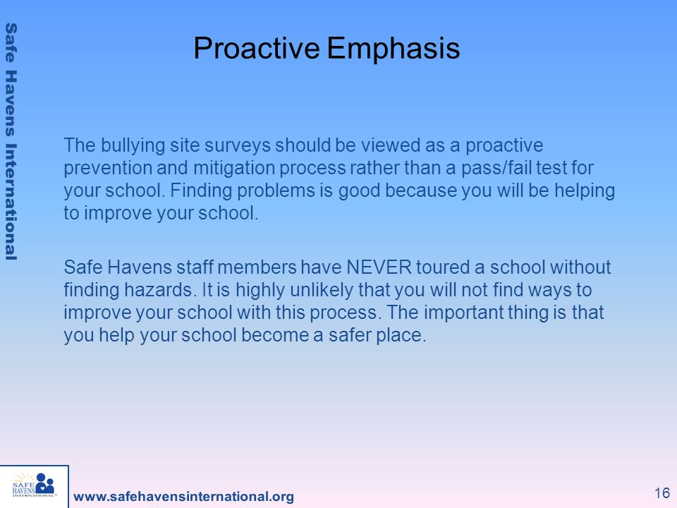 Proactive Emphasis