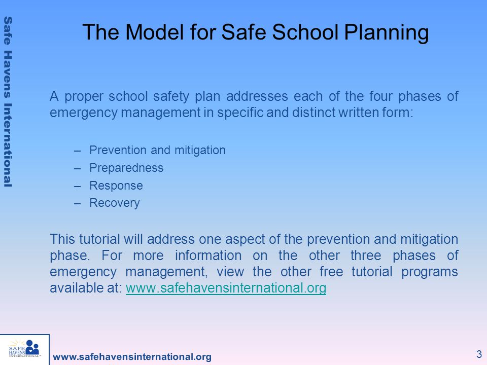 The Model for Safe School Planning