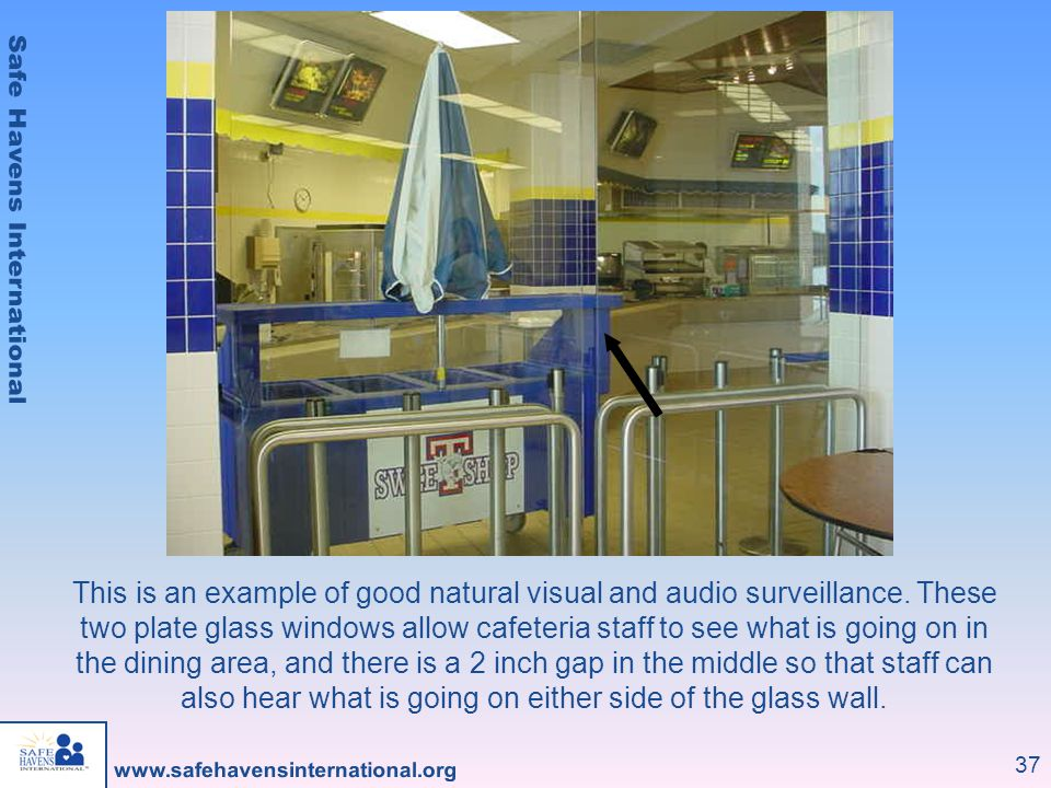 This is an example of good natural visual and audio surveillance