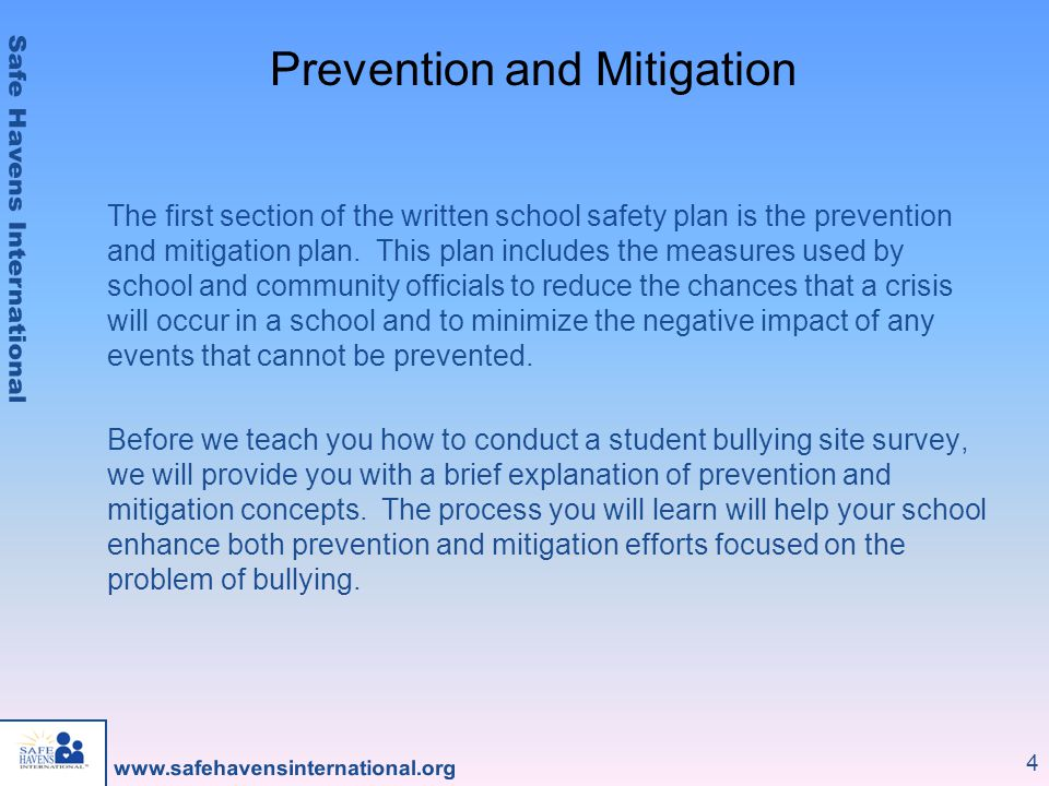 Prevention and Mitigation