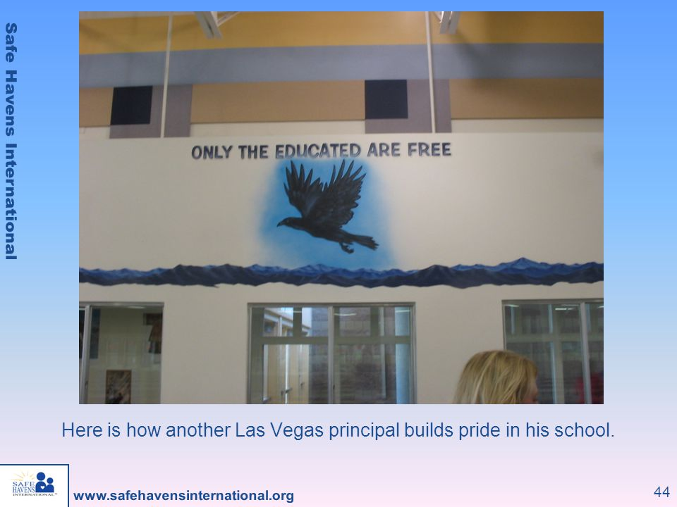 Here is how another Las Vegas principal builds pride in his school.