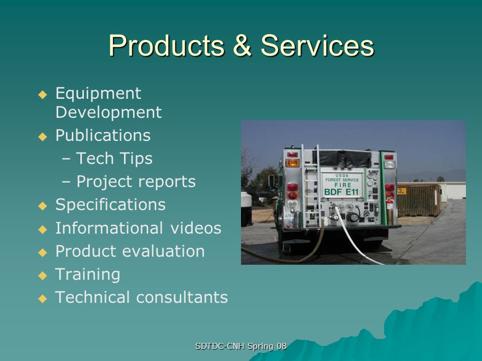 Products & Services Equipment Development Publications Tech Tips