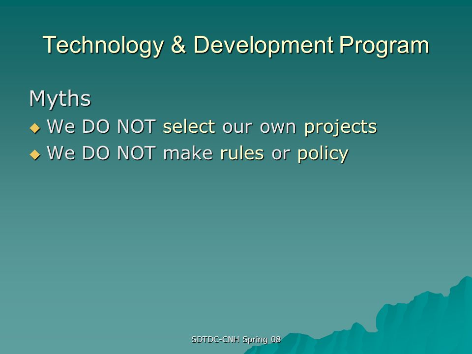 Technology & Development Program