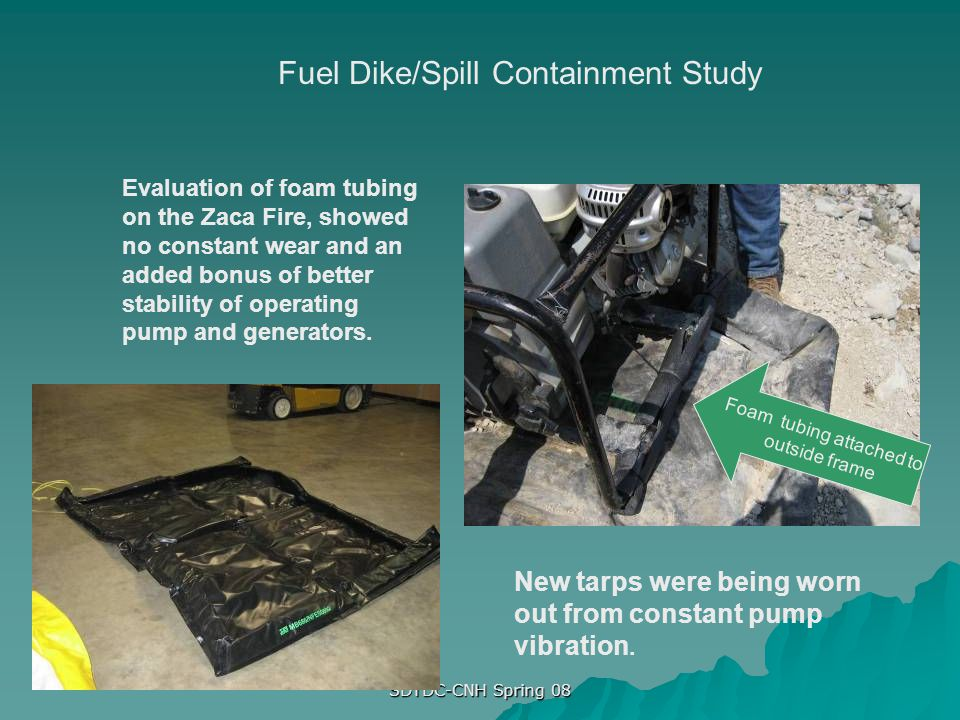 Fuel Dike/Spill Containment Study