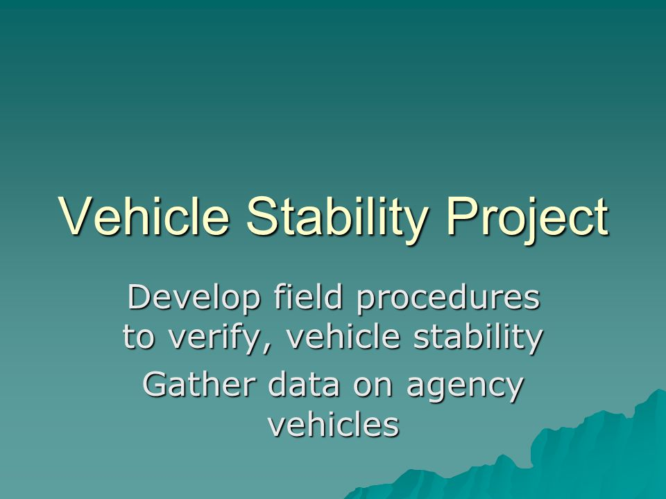 Vehicle Stability Project