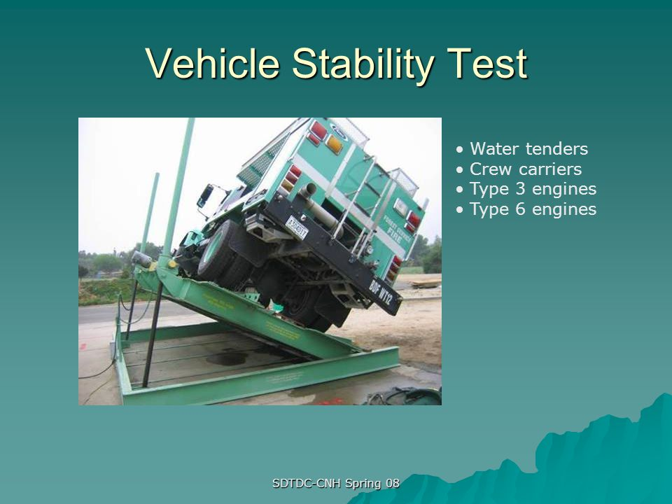 Vehicle Stability Test