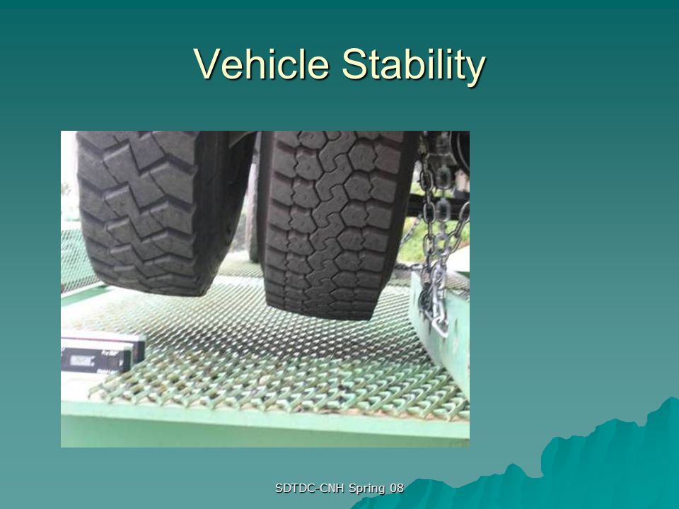 Vehicle Stability SDTDC-CNH Spring 08