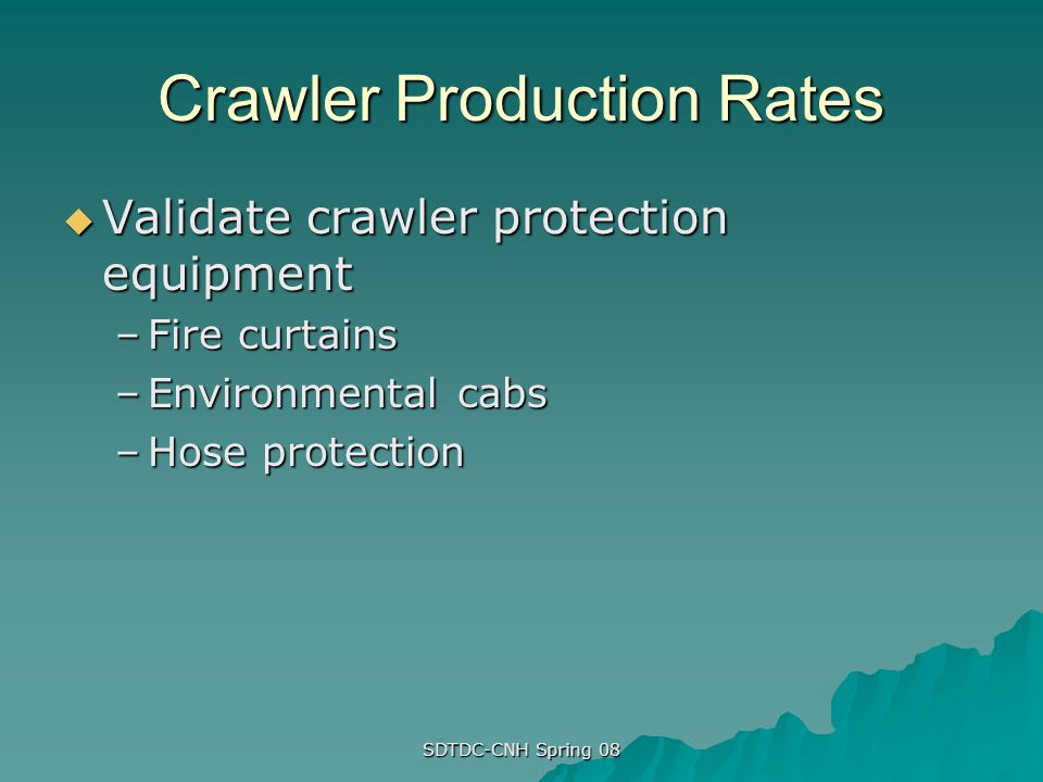 Crawler Production Rates