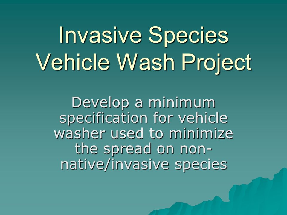 Invasive Species Vehicle Wash Project