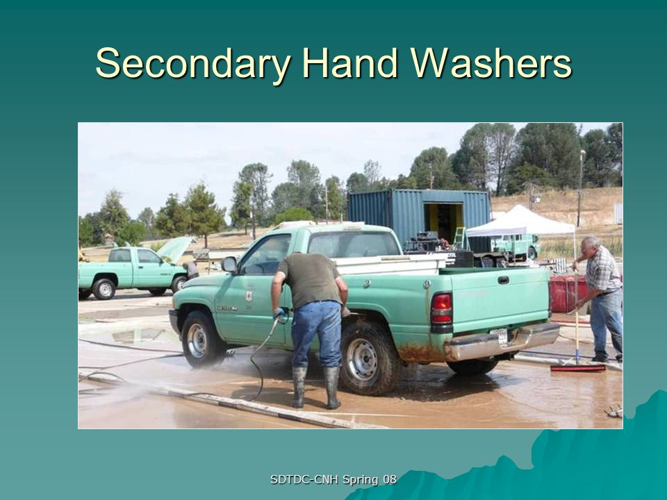 Secondary Hand Washers