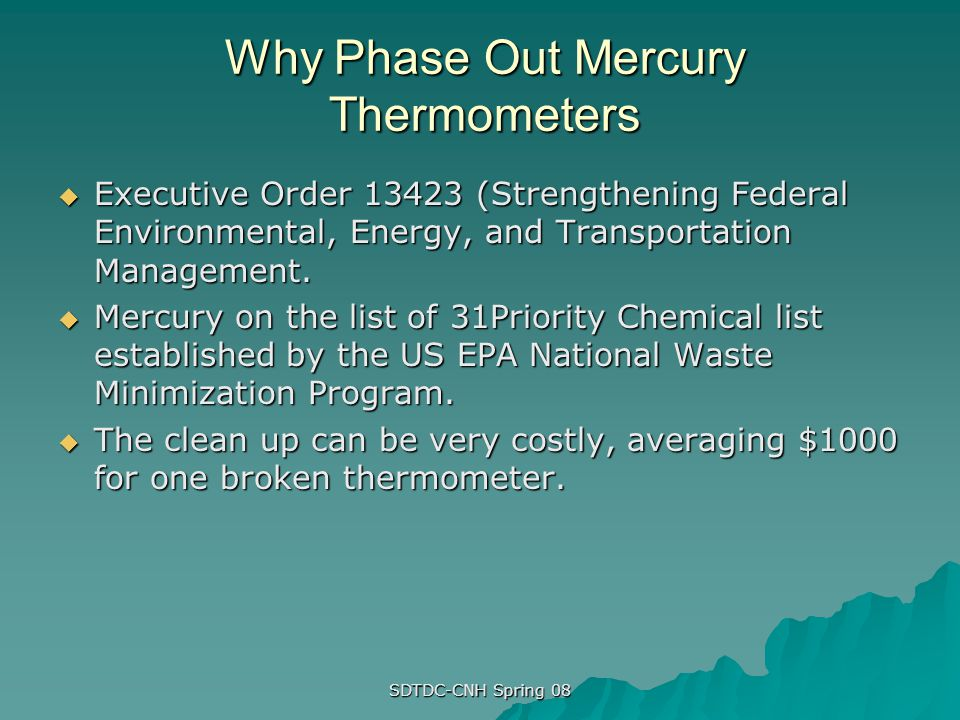 Why Phase Out Mercury Thermometers