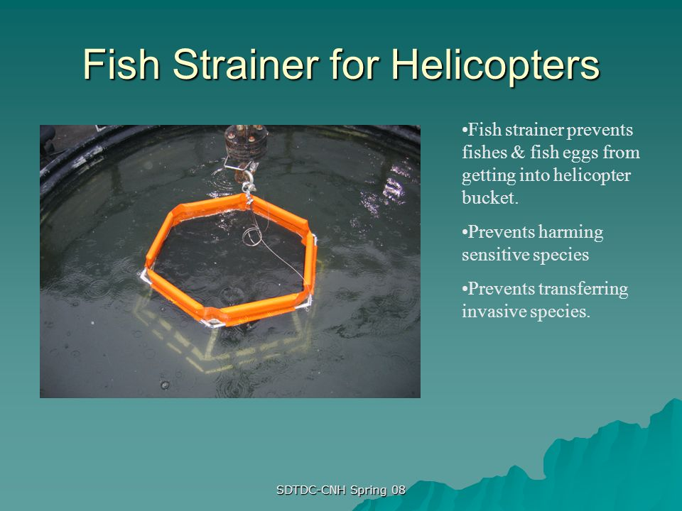 Fish Strainer for Helicopters