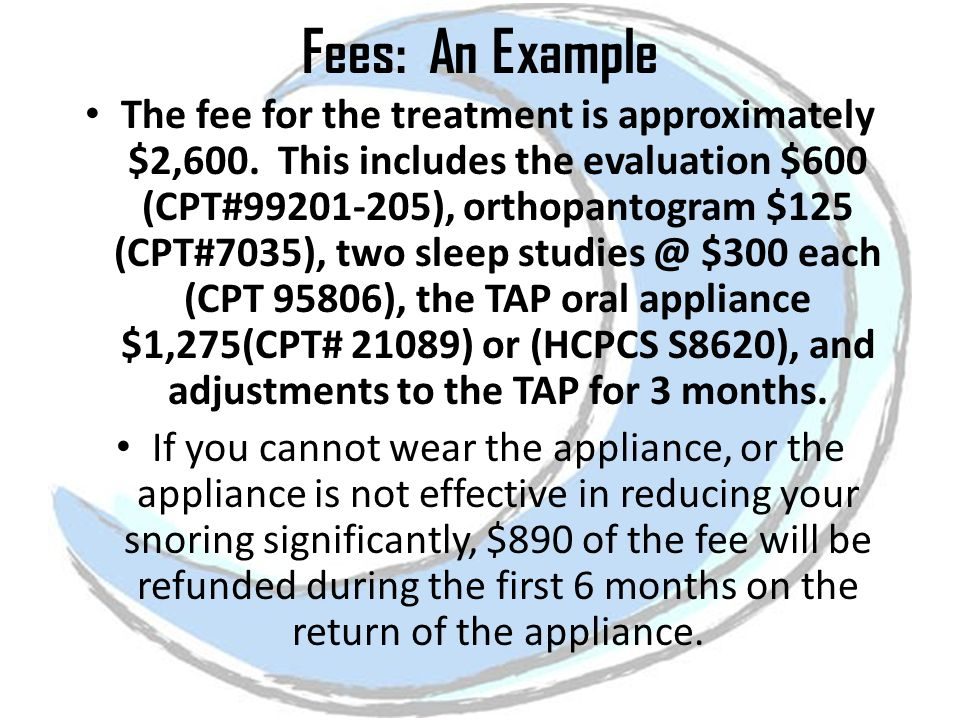 Fees: An Example