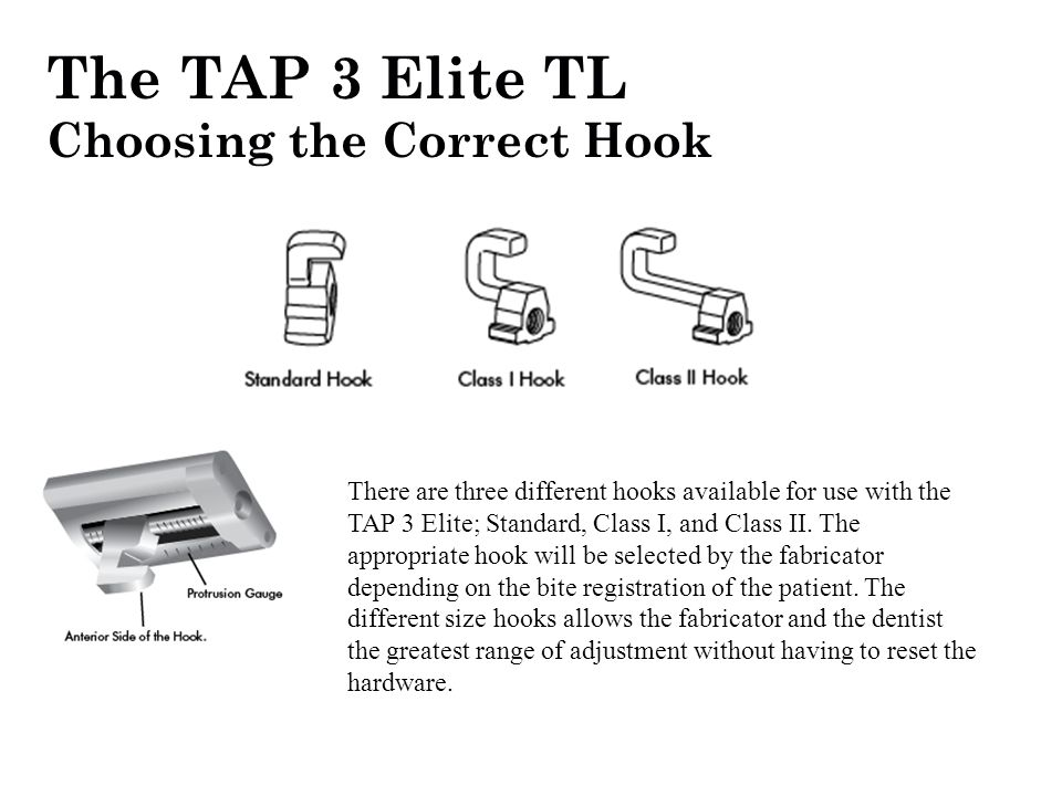 The TAP 3 Elite TL Choosing the Correct Hook
