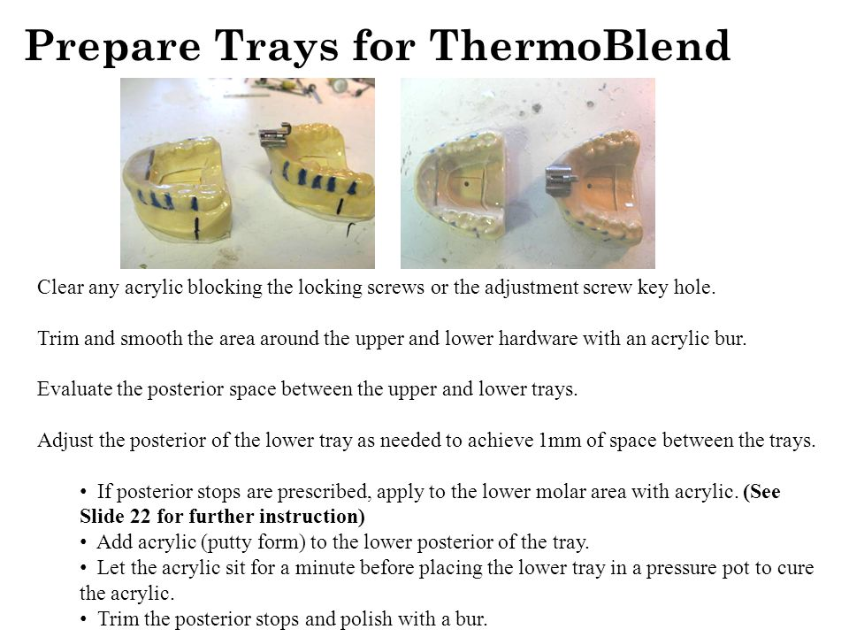 Prepare Trays for ThermoBlend