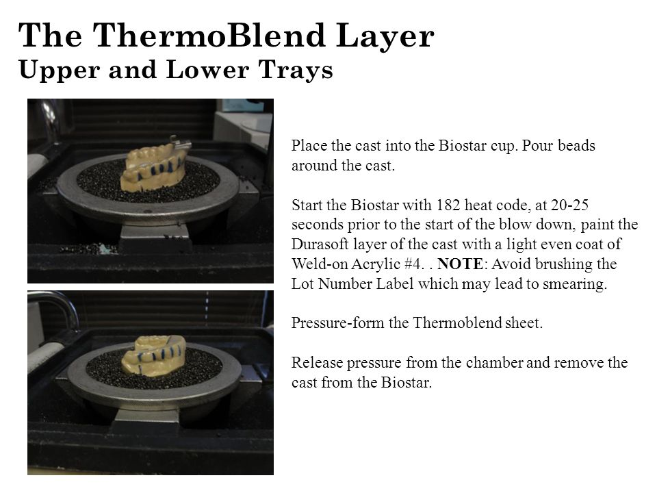 The ThermoBlend Layer Upper and Lower Trays
