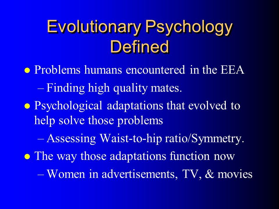 Evolutionary Psychology Defined