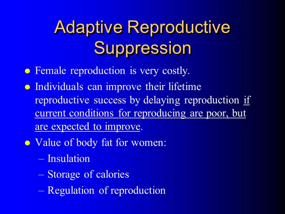 Adaptive Reproductive Suppression