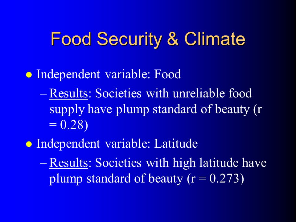 Food Security & Climate