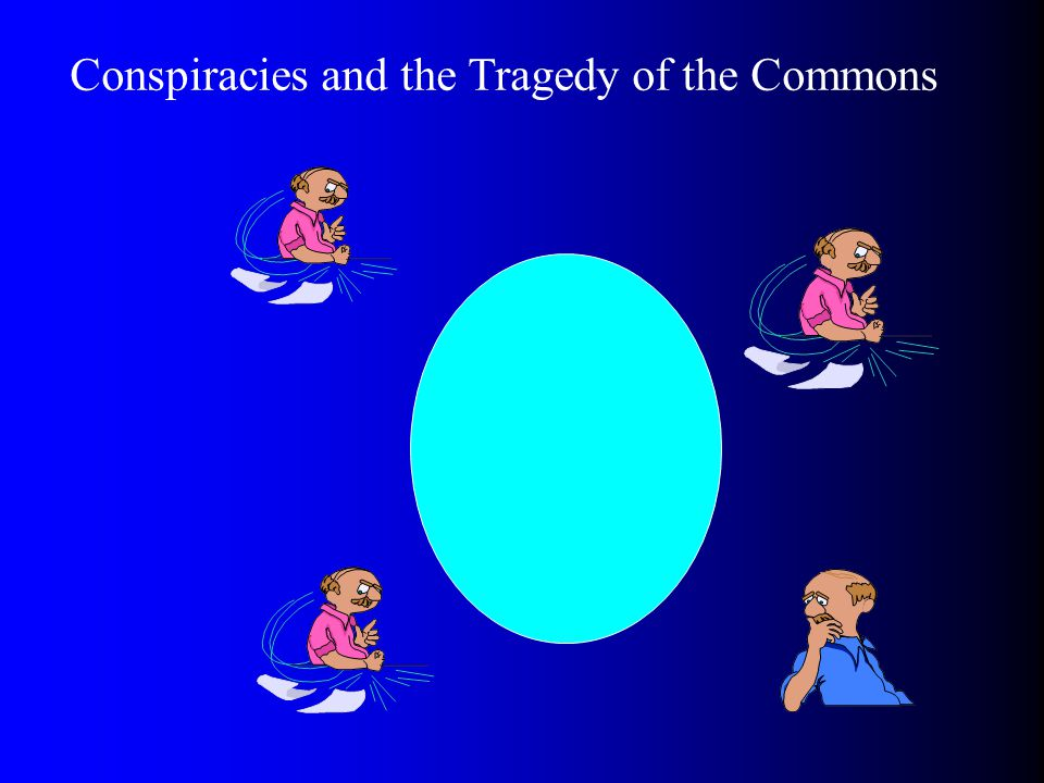 Conspiracies and the Tragedy of the Commons